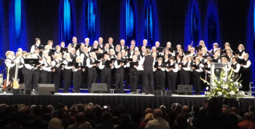 Celebration Singers at the Governor Pence/Lt.Governor Ellspermann Inaugural Praise/Worship Servce